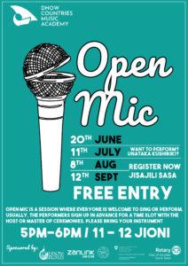 DCMA Open Mic @ DCMA, Zanzibar | Zanzibar | Zanzibar Urban/West Region | Tanzania